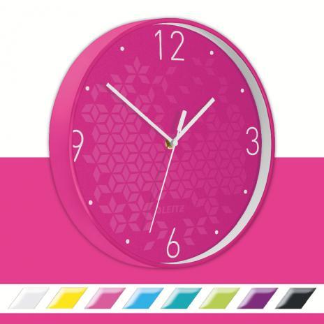 Leitz Wanduhr WOW pink