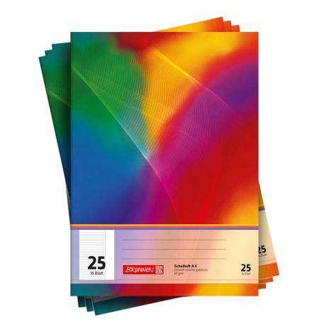 Schulheft DIN A4, Lineatur 25, liniert, 10er Pack