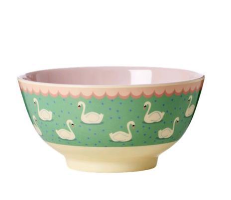 Rice Melaminschüssel Ø 15 cm grün/rosa