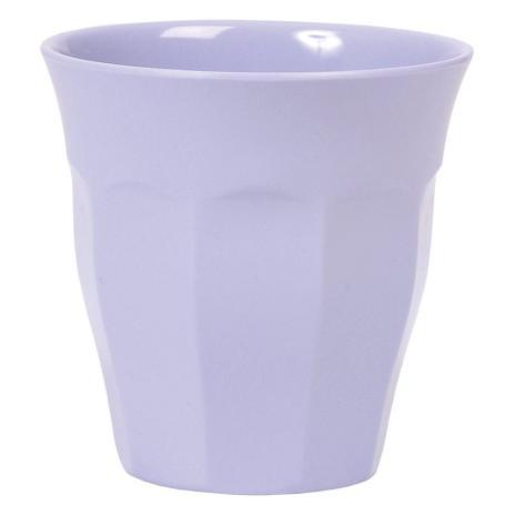 Rice Melaminbecher mittlere Größe einfarbig lila