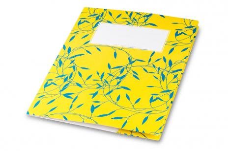 minouki Heftumschlag aus Recyclingpapier gemustert lila