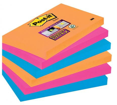Post-it® Haftnotiz Super Sticky Notes Bangkok Collection 6 Block/Pack. 127 x 76 mm (B x H)