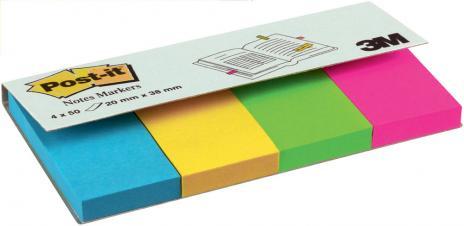 Post-it® Haftstreifen Page Marker 20 x 38 mm 1 x neonpink, 1 x neongelb, 1 x neongrün, 1 x neonorange