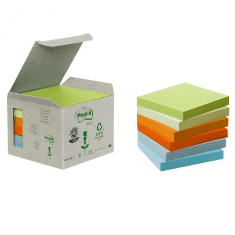 Post-it® Haftnotiz Recycling Notes Mini Tower Pastel Rainbow