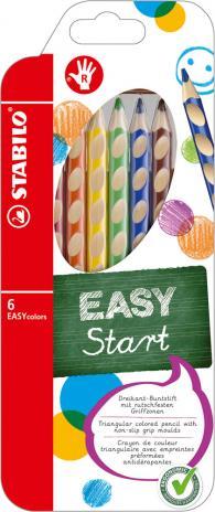 STABILO® Buntstift EASYcolors Etui, Rechtshänder 12 St.