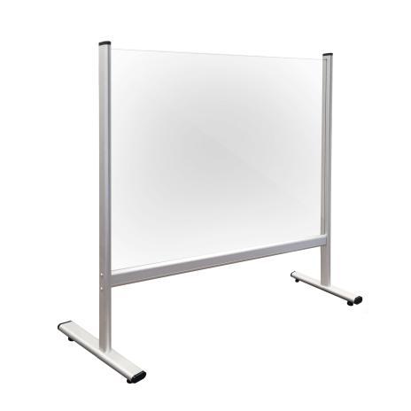 Trennwand / Spuck- und Niesschutz, Acrylglas 800 x 650 mm (B x H)