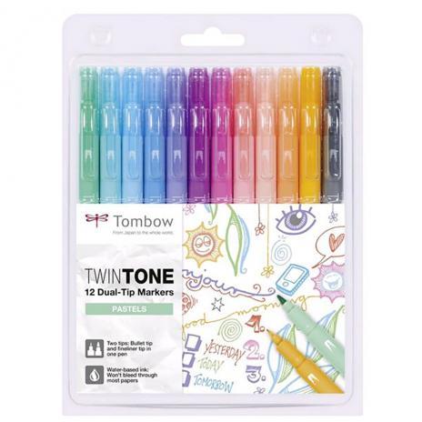 Tombow Fasermaler TwinTone Etui