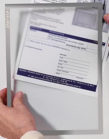 Franken Dokumentenhalter Frame It X-tra! Line DIN A4 5 St./Pck. grün