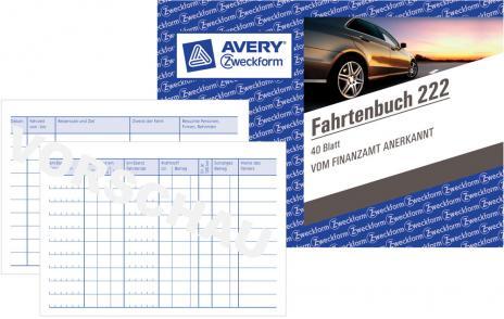 Avery Zweckform Fahrtenbuch DIN A6
