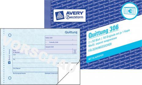 Avery Zweckform Quittung 306 Günstig Online Bestellen