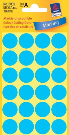 Avery Zweckform Markierungspunkt 18mm blau