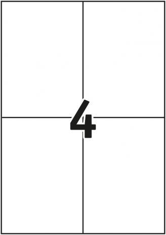 Pro/Office Universaletikett ohne umlaufenden Rand 297 x 210 mm-2