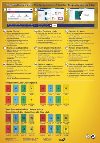 Avery Zweckform Universaletikett 70 x 37 mm, gelb-2