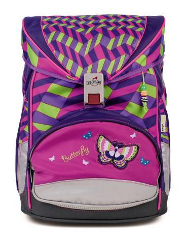 "DerDieDas ErgoFlex Exklusiv ""Switch"" Schulrucksack-Set Girl Gang/Butterfly-2"