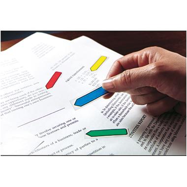 Post-it® Haftstreifen Index Pfeile 4 Block/Pack. 1 x rot, 1 x gelb, 1 x grün, 1 x blau-2
