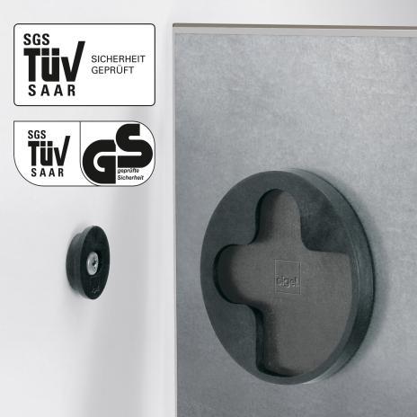 Sigel Glasboard artverum® 30 x 30 cm (BxH) rot-2