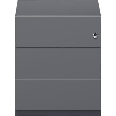 Bisley Rollcontainer Note™ 3 Schubfächer 42 x 49,5 x 56,5 cm verkehrsweiß-2