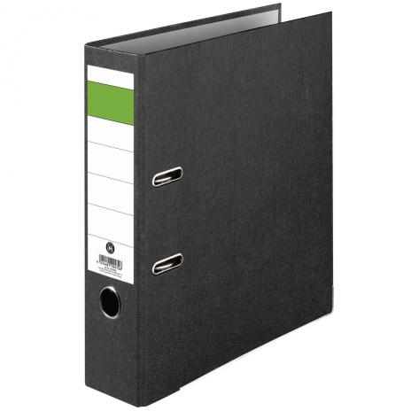 Ordner Grüner Balken Pappe, DIN A4, 80mm, breit-2