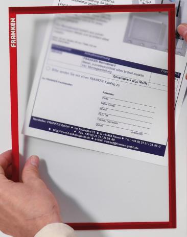 Franken Dokumentenhalter Frame It X-tra!Line DIN A4 blau-2