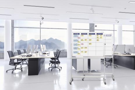 magnetoplan® Whiteboard mobil Scrum Board XL mit Zubehörset-2