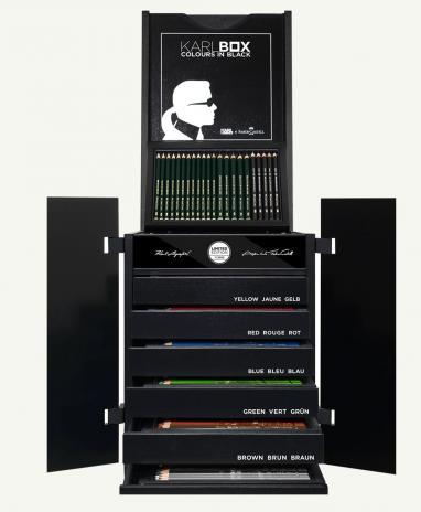 Faber-Castell KARLBOX, limitiertes Künstler-Komplettset mit 350 erstklassigen Mal- und Zeicheninstrumenten.-2