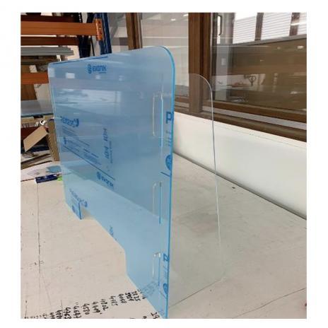 Thekenaufsatz / Virenschutz aus Plexiglas®XT 1000 x 700 mm (B x H)-2