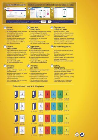 Avery Zweckform Ordnerrückenetikett breit/lang gelb-2