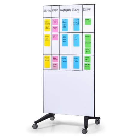 Legamaster mobiles Glasboard weiß 195 x 95 cm (BxH gesamt)-2