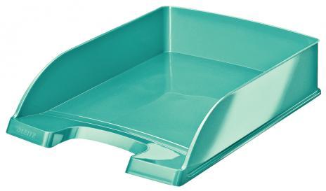 Leitz Briefablage WOW einfarbig eisblau, metallic-2