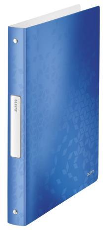 Leitz Ringbuch WOW 4 Rund-Ring Mechanik 190 Bl. (80g/m²) eisblau-2