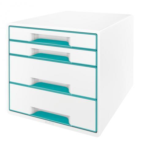 Leitz Schubladenbox WOW CUBE 4 Schubfächer grün, weiß-2