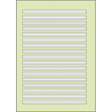 Schulheft DIN A4, Lineatur 2, grün hinterlegt, 16 Blatt-2