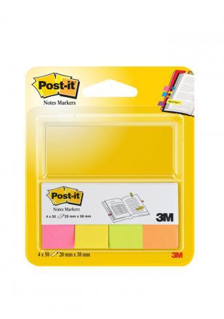 Post-it® Haftstreifen Page Marker 20 x 38 mm 1 x neonpink, 1 x neongelb, 1 x neongrün, 1 x neonorange-2