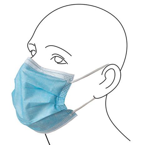 Einweg Gesichtsmaske/Mundschutz schwarz 50er Pack-2