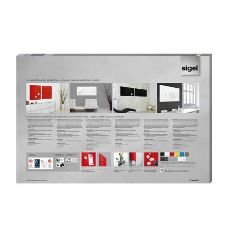 Sigel Glasboard artverum® 100 x 65 cm (BxH) schwarz-2