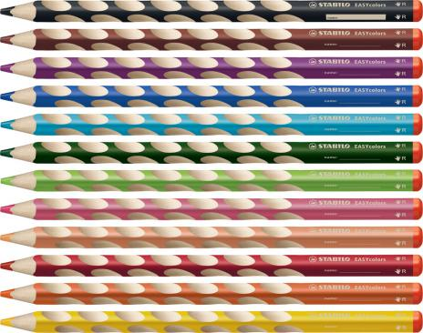 STABILO® Buntstift EASYcolors Etui, Rechtshänder 12 St.-2