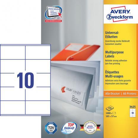 Avery Zweckform Universaletikett weiß, 105 x 57 mm-2