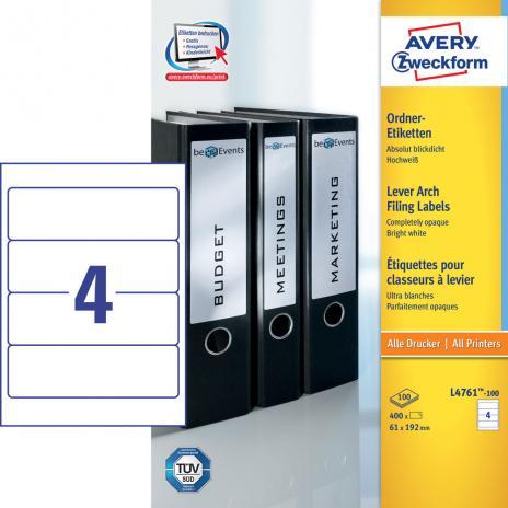 Avery Zweckform Ordnerrückenetikett 61 x 192 mm, Vorteilspack + 5 Blatt gratis-2