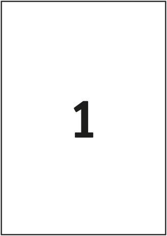 Pro/Office Universaletikett ohne umlaufenden Rand 297 x 210 mm-3