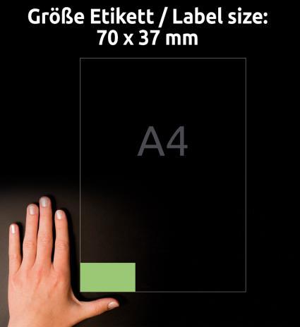 Avery Zweckform Universaletikett 70 x 37 mm, gelb-3