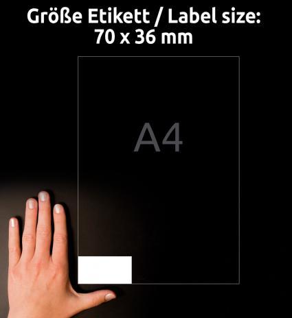 Avery Zweckform Universaletikett ultragrip 3490 70 x 36 mm weiß-3