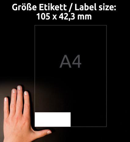 Avery Zweckform Universaletikett ultragrip 3653-200 105 x 42,3 mm weiß-3