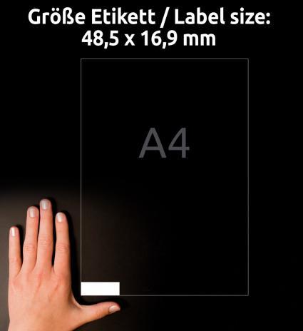 Avery Zweckform Universaletikett ultragrip 3667 48,5 x 16,9 mm weiß-3
