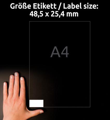Avery Zweckform Universaletikett ultragrip 4780 48,5 x 25,4 mm weiß-3