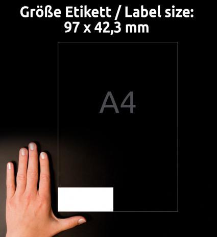 Avery Zweckform Universaletikett ultragrip 4781 97 x 42,3 mm weiß-3