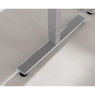Hammerbacher Schreibtisch 200 x 63,5-128,5 x 120 cm grau-3