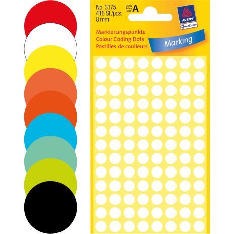 Avery Zweckform Markierungspunkt 8mm gelb-3