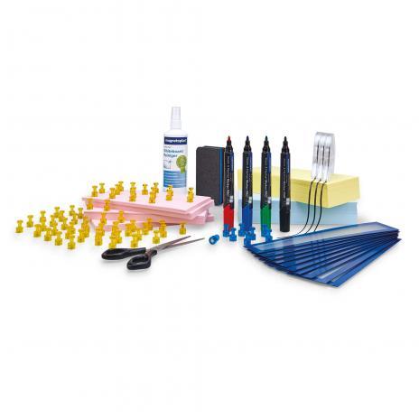 magnetoplan® Whiteboard mobil Scrum Board XL mit Zubehörset-3