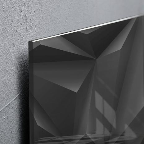 Sigel Glasboard artverum® 48 x 48 cm (BxH) design Black-Diamond, schwarz-3