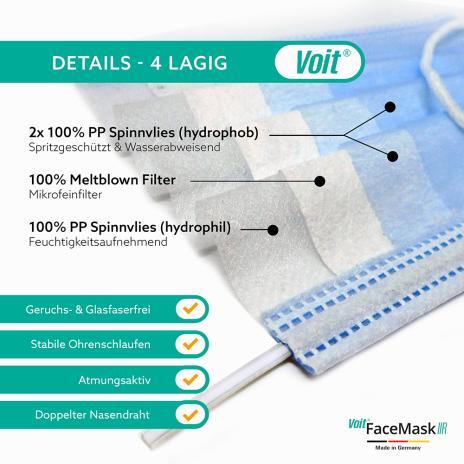 Voit OP-Masken, medizinische Gesichtsmasken Face Mask Typ IIR 50er Pack-3